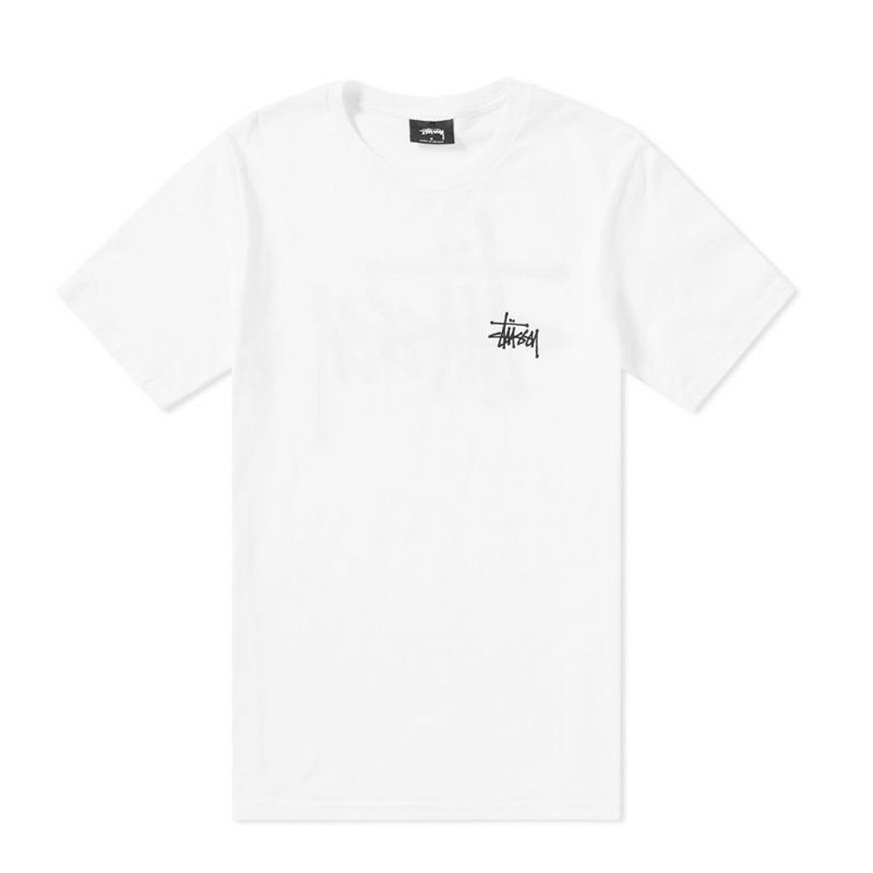 a2d80419654 STÜSSY Basic Tee - White - TheRoom Barcelona