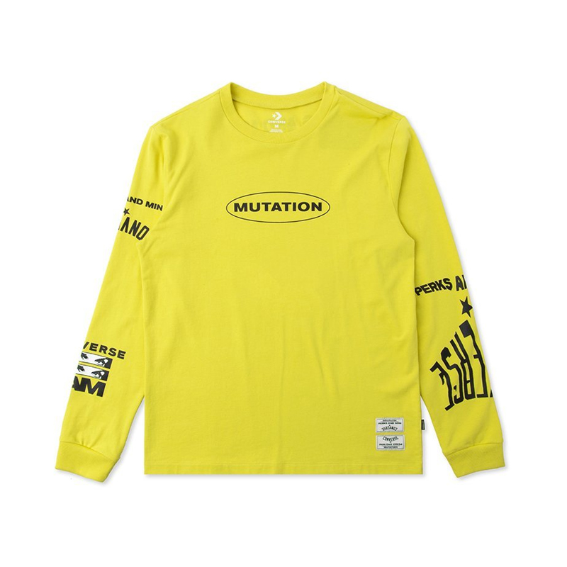 7807bb27f CONVERSE x P.A.M. (PERKS AND MINI) Long Sleeve Tshirt – Green Sheen Yellow
