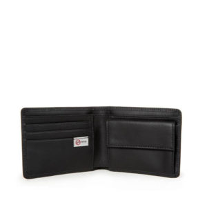 EASTPAK Drew RFID Leather Wallet - Black Ink