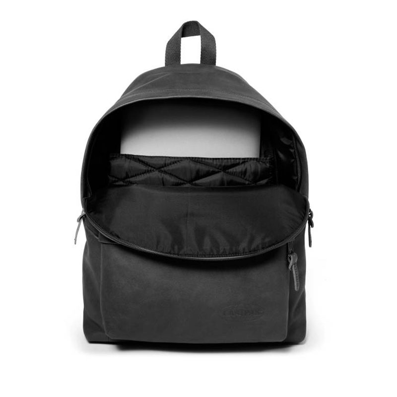 EASTPAK Padded Pak'r Leather Bagpack - Black Ink