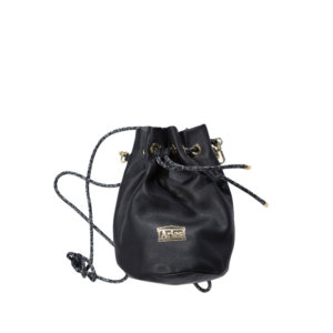 Mini Drawstring Leather Bag