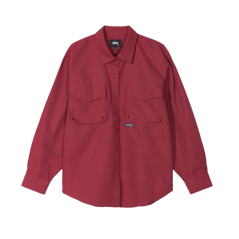 STUSSY Camisa LS Range Outdoor - Rose