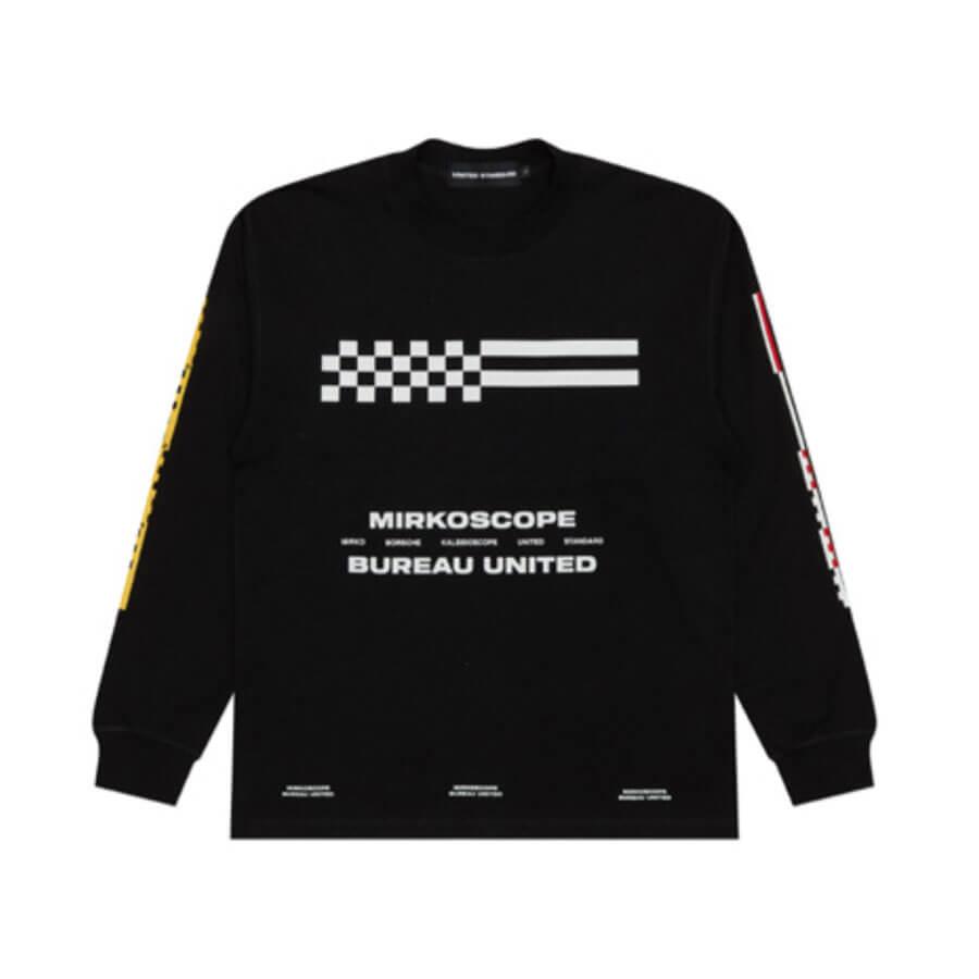 UNITED STANDARD Mirkoscope Flags LS T-shirt