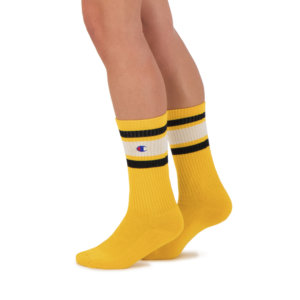 CHAMPION REVERSE WEAVE Calcetines Stripe Ribbed Crew Socks - Old Yellow