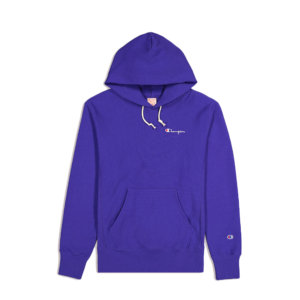 CHAMPION REVERSE WEAVE Small Script Logo Hoodie - Nautical Blue