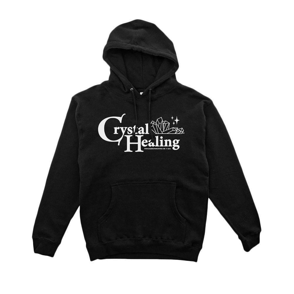 GOOD MORNING TAPES Crystal Healing Pullover Hood - Black