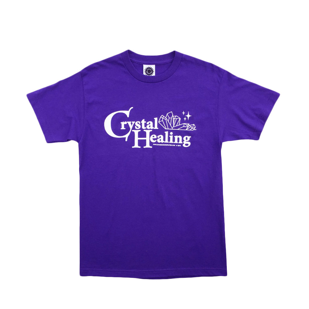 GOOD MORNING TAPES Crystal Healing SS Tee - Purple