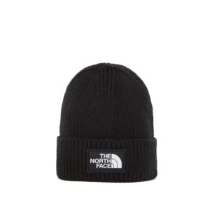 THE NORTH FACE Logo Box Cuff Beanie - Black