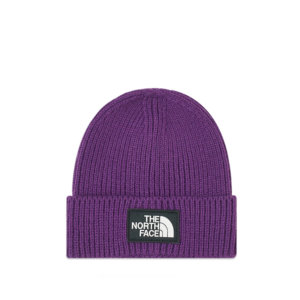 THE NORTH FACE Beanie Logo Box Cuffed - Purple