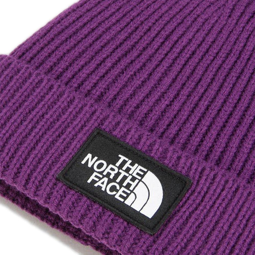THE NORTH FACE Beanie Logo Box Cuffed - Purple