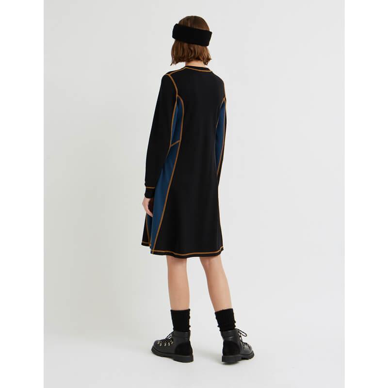WOOD WOOD Vestido Mandy - Black / ColorBlock