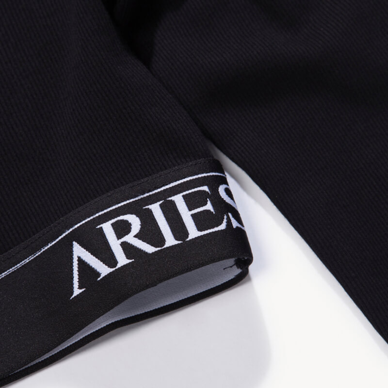 ARIES Rib Crop Top - Black