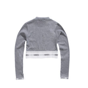ARIES Rib Crop Top - Grey