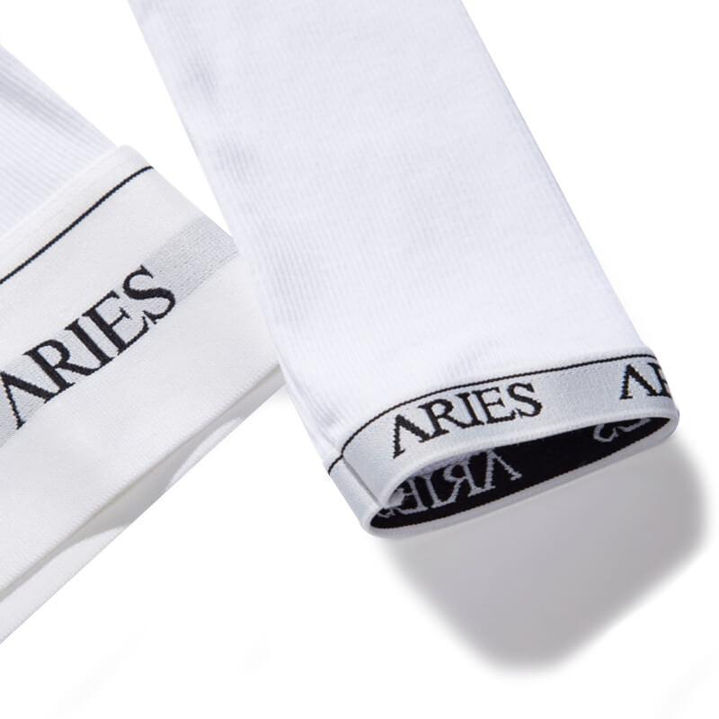 ARIES Top Crop Rib - White