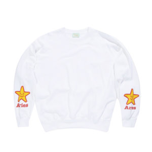 ARIES Fast Food Sweat - White