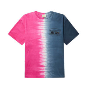 ARIES Camiseta Tie Dye Half and Half - Azul