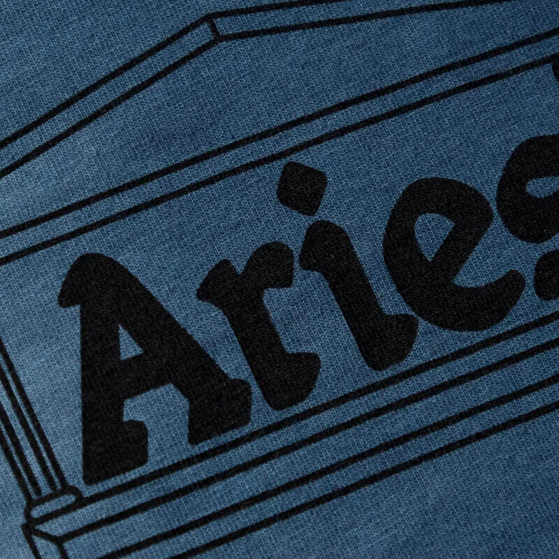 ARIES Tie Dye Half and Half Tee - Blue