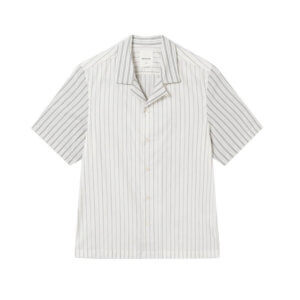 WOOD WOOD Camisa Brandon - Off White Stripes