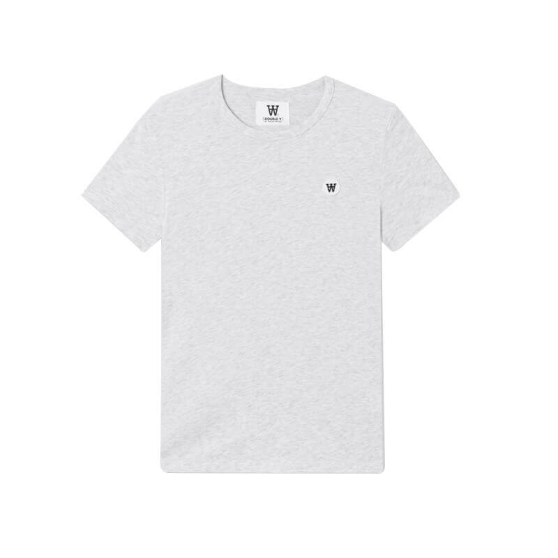 WOOD WOOD Camiseta Double-A Uma - Light Grey Melange