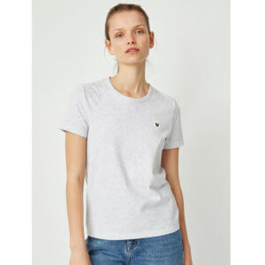WOOD WOOD Double-A Uma T-shirt - Light Grey Melange