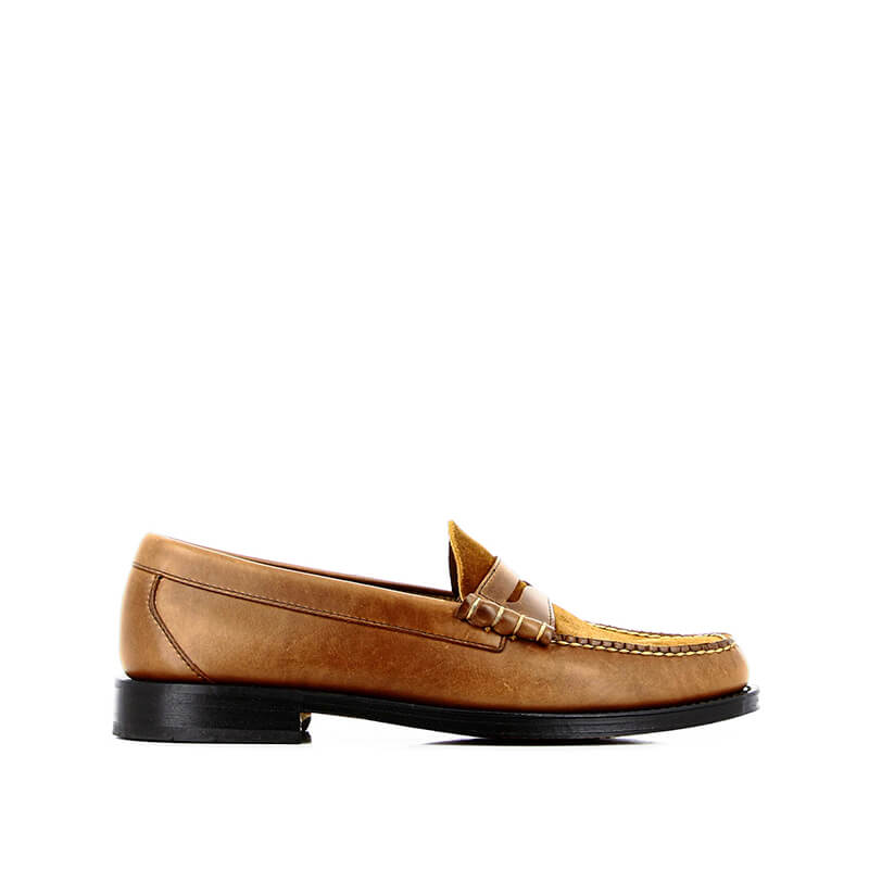 G.H. BASS Mocasines Weejuns Larson Mix - Brown Leather & Suede