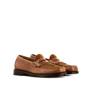 G.H. BASS Weejuns Larson Mix Loafer - Brown Leather & Suede