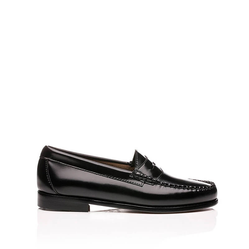 G.H. BASS Mocasines Weejuns Larson Moc Penny - Black Leather