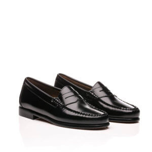 G.H. BASS Mocasines Weejuns Larson Moc Penny - Black Leather