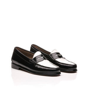 G.H. BASS Mocasines Mujer Weejuns Penny - Black & White