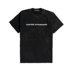 UNITED STANDARD Logo Acid T-Shirt - Black