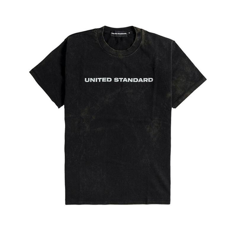 UNITED STANDARD Logo Acid T-Shirt - Black