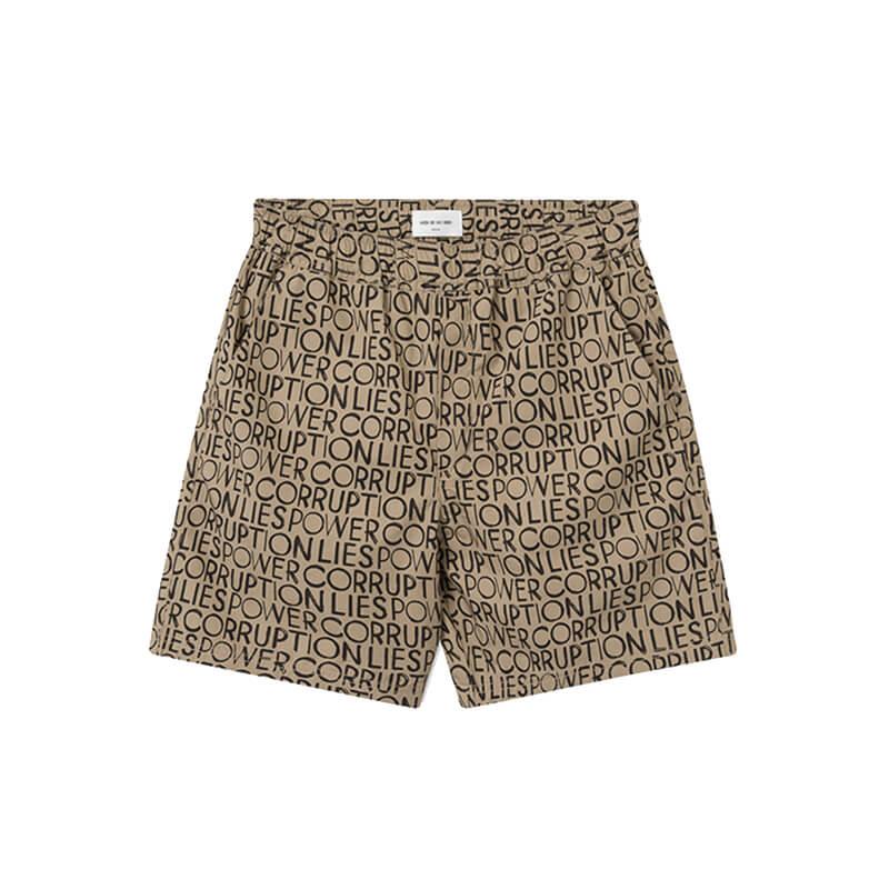 WOOD WOOD Hamilton Shorts - Taupe AOP