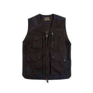 MAHARISHI 8535 Scrim Net Cargo Vest - Black