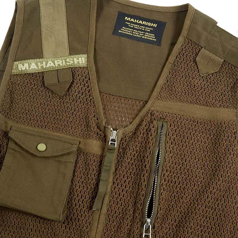 MAHARISHI 8535 Scrim Net Cargo Vest - Mil Olive 3