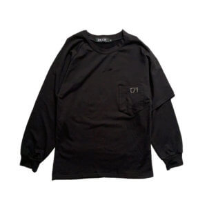 SHOOP Camiseta LS Asymmetrical - Black