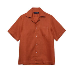 SHOOP Linen Stitich Shirt - Red