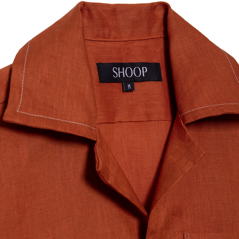 SHOOP Linen Stitich Shirt - Red