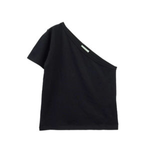 ARIES Camiseta One Shoulder - Black