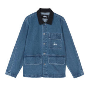 STUSSY Denim Chore Coat - Blue