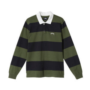 STUSSY Polo Classic Stripe Rugby - Black