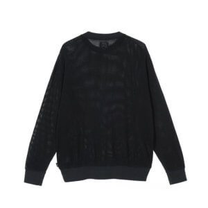 STUSSY Camiseta Cotton Mesh Crew - Black