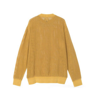 STUSSY Camiseta Cotton Mesh Crew - Gold