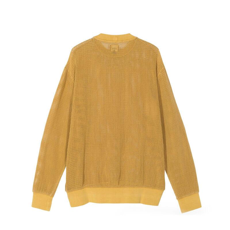STUSSY Camiseta Cotton Mesh Crew - Gold