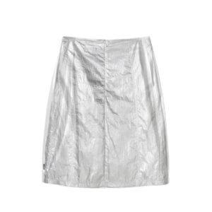 STUSSY Shiny Panel Skirt - Silver