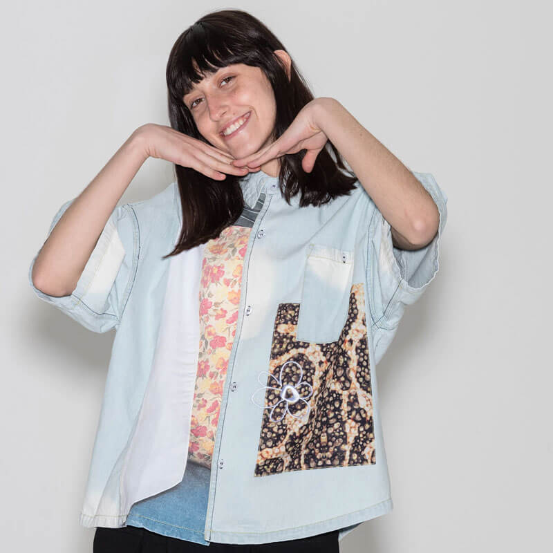P.A.M. (Perks & Mini) Extensions SS Shirt - Faded Chambray