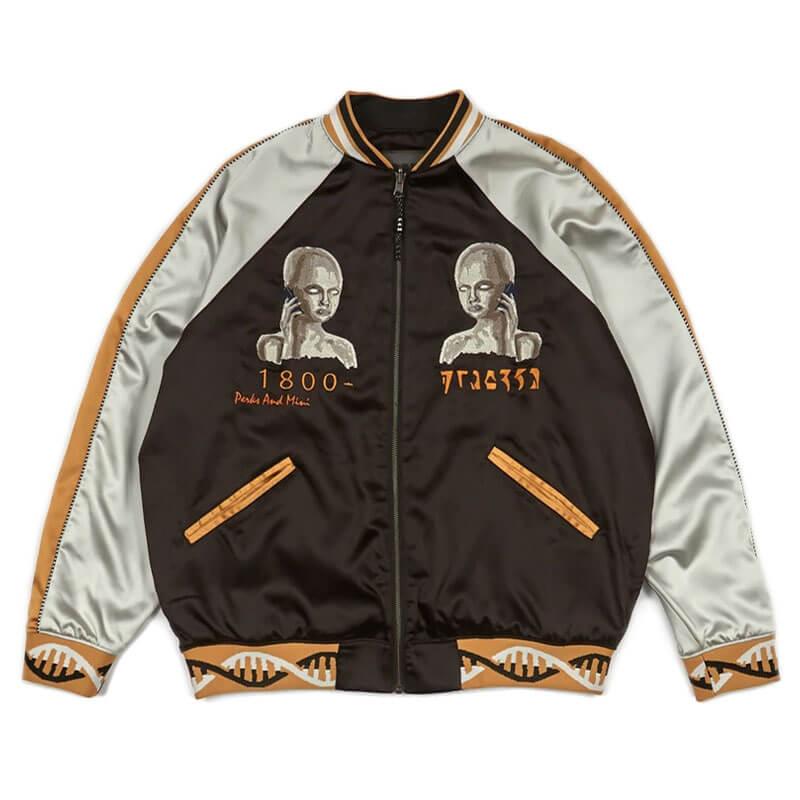 P.A.M. (Perks & Mini) Team Work Reversible Jacket - Black