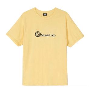 STÜSSY Stüssy Corp. Tee - Yellow