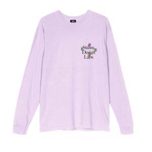 STÜSSY Camiseta LS Design Labs - Lavender