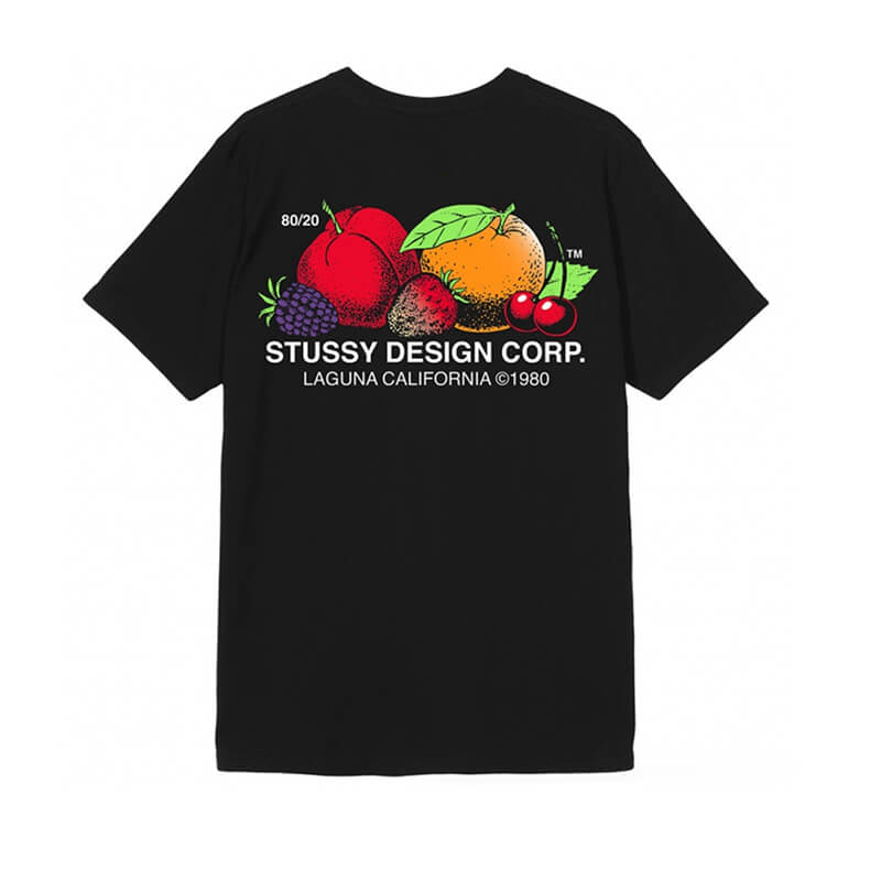 STÜSSY Camiseta Fresh Fruit - Black