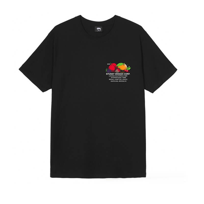 STÜSSY Fresh Fruit Tee - Black